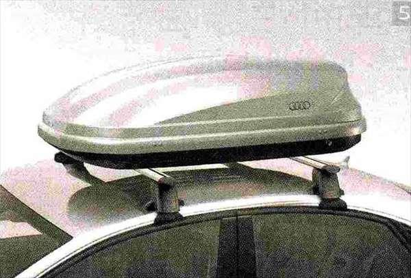 A8 パーツ ラゲッジルーフボックス※ルーフバーは別売り アウディ純正部品 4HCREF 4HCTGF 4HCTGL オプション アクセサリー 用品 純正 送料無料