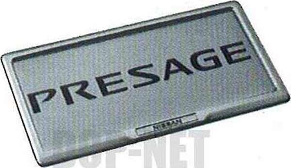 『プレサージュ』 純正 TU31 TNU31 ナンバープレートリムセット(フロント:本アルミ、リヤ:高級クローム) パーツ 日産純正部品 ナンバーフレーム ナンバーリム ナンバー枠 PRESAGE オプション アクセサリー 用品