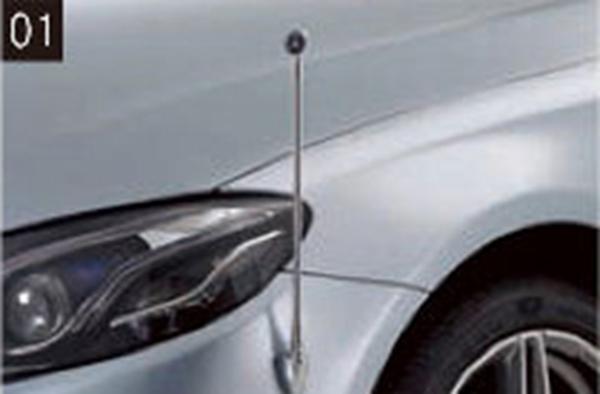 『CLS』 純正 LDA DAA 固定式コーナーポール パーツ ベンツ純正部品 フェンダーポール フェンダーライト 障害物 オプション アクセサリー 用品