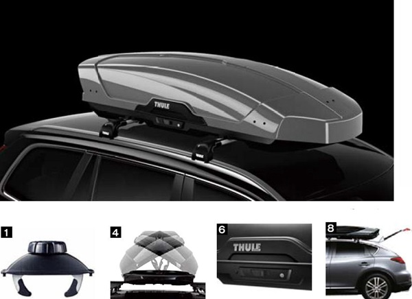 『THULEシステムキャリア』 純正 ルーフボックス Mothion XT L パーツ スバル純正部品 オプション アクセサリー 用品