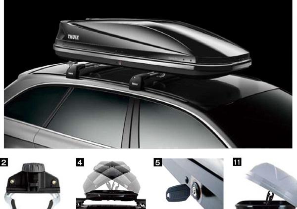 『THULEシステムキャリア』 純正 ルーフボックス Touring L チタンエアロスキン パーツ スバル純正部品 オプション アクセサリー 用品
