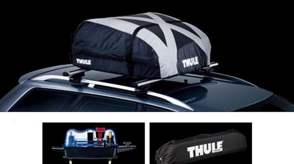 『THULEシステムキャリア』 純正 ルーフボックス(折りたたみ式)Ranger 90 グレー×ブラック パーツ スバル純正部品 オプション アクセサリー 用品