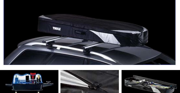 『THULEシステムキャリア』 純正 ルーフボックス(折りたたみ式)Ranger500 グレー×ブラック パーツ スバル純正部品 オプション アクセサリー 用品