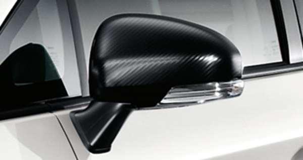 『プリウスPHV』 純正 ZVW35 ドアミラーカバー カーボン調 パーツ トヨタ純正部品 サイドミラーカバー カスタム prius オプション アクセサリー 用品