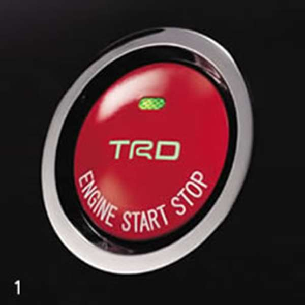 TRD プッシュスタートスイッチ [ MS422-00001] マークX GRX130 適合 スマートエントリー 装着車 (必要個数 1個)