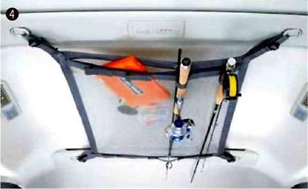 『デリカD:5』 純正 CV2W ヘッドスペースネット(ロッドホルダー兼用) パーツ 三菱純正部品 DELICA オプション アクセサリー 用品