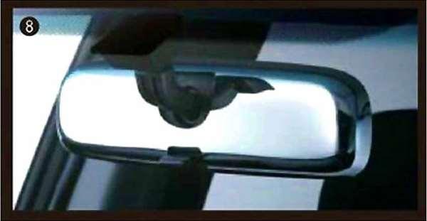 『デリカD:5』 純正 CV2W メッキルームミラーカバー パーツ 三菱純正部品 DELICA オプション アクセサリー 用品