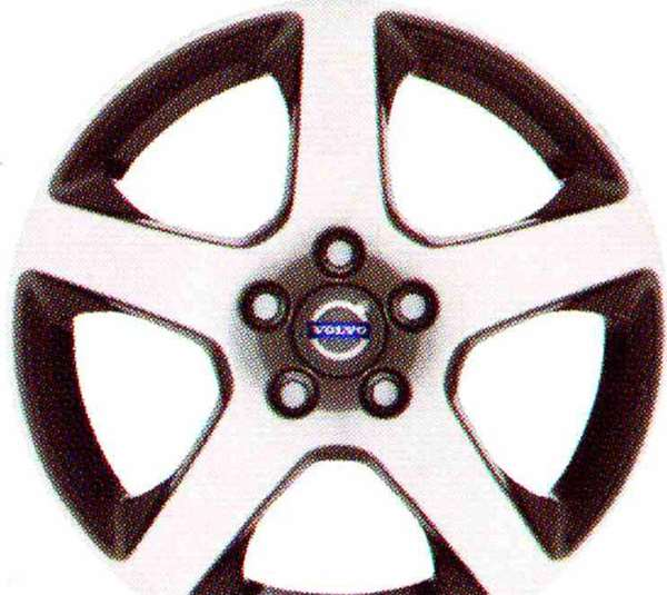 V60 S60 パーツ アルミホイール カニクラ(シルバーブライト) 7×17インチ ボルボ純正部品 FB4164T FB6304T オプション アクセサリー 用品 純正 送料無料