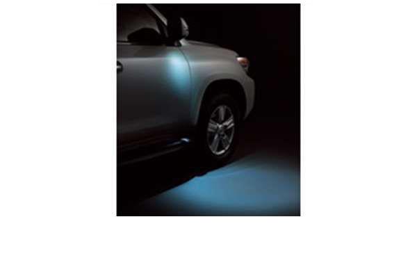 『ランドクルーザー200系』 純正 URJ202 ウェルカムライト 運転席・助手席(ミラーカバーとロアカバー別売り) パーツ トヨタ純正部品 イルミネーション 明かり 照明 landcruiser オプション アクセサリー 用品