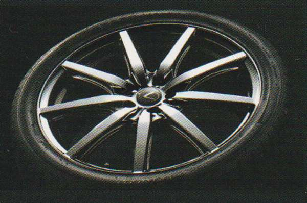 CT 部分 F 运动部件 (MODELLISTA) 18 寸轮毂及轮胎设置 1 分钟雷克萨斯纯正配件 AHXBB AHXEB 选项配件用品真正