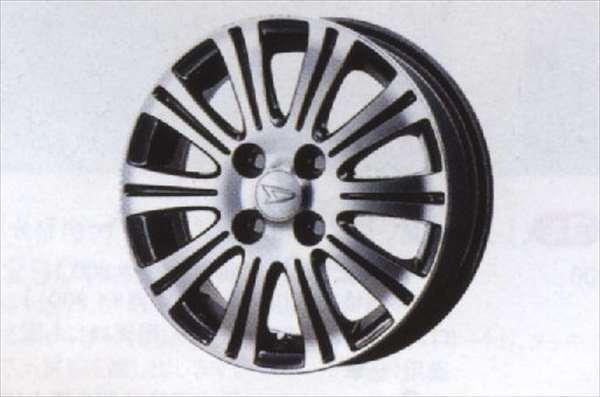 『ミライース』 純正 LA300S LA310S アルミホイール (10本スポーク・ブラックポリッシュタイプ) 1本からの販売 パーツ ダイハツ純正部品 mirae:s オプション アクセサリー 用品