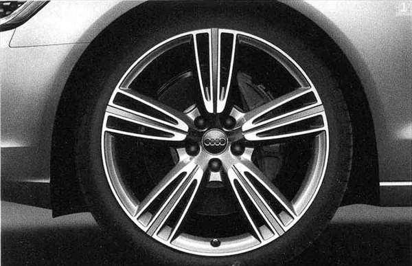A6・S6 パーツ 5-トライスポークデザインアルミホイール(8.5J-20) 1本につき アウディ純正部品 4GCHVS 4GCGWS 4GCEUA オプション アクセサリー 用品 純正 送料無料