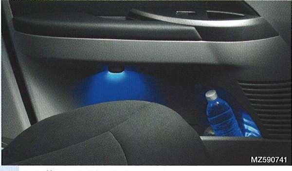 『グランディス』 純正 NA4 イルミネーションキット(ドアポケットイルミネーションと後席フットイルミネーションの2点キット) パーツ 三菱純正部品 照明 明かり ライト GRANDIS オプション アクセサリー 用品