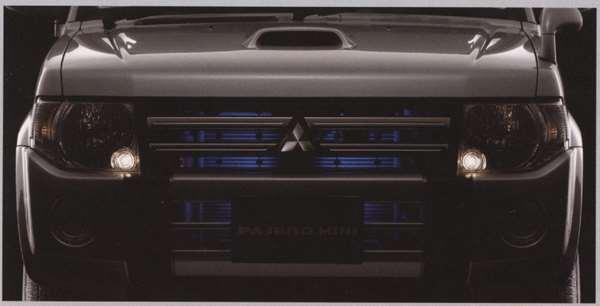 『パジェロミニ』 純正 H58A H53A グリル&バンパーイルミネーション パーツ 三菱純正部品 ライト 照明 ドレスアップ PAJERO オプション アクセサリー 用品