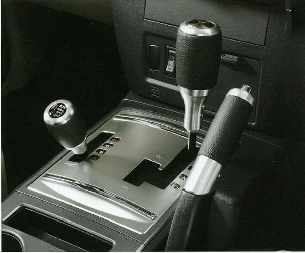 『パジェロ』 純正 V98W V97W V93W V88W 革巻シフトノブ(トランスファーシフトノブ) パーツ 三菱純正部品 本革巻き 皮巻き レザー PAJERO オプション アクセサリー 用品