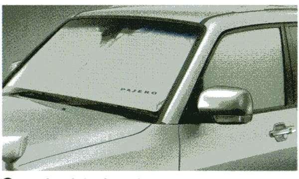 『パジェロ』 純正 V98W V97W V93W V88W ワンタッチサンシェード(LONG用) パーツ 三菱純正部品 サンシェイド 日除け 目隠し PAJERO オプション アクセサリー 用品