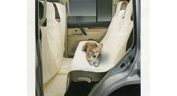 『パジェロ』 純正 V98W V97W V93W V88W ドッグシートカバー(セカンドシート用) パーツ 三菱純正部品 座席カバー 汚れ シート保護 PAJERO オプション アクセサリー 用品