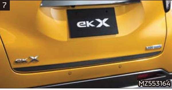 『ekクロス』 純正 B34W B35W B37W B38W テールゲートデカール パーツ 三菱純正部品 ステッカー シール ワンポイント オプション アクセサリー 用品