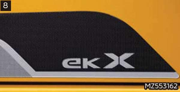 『ekクロス』 純正 B34W B35W B37W B38W サイドデカール パーツ 三菱純正部品 ステッカー シール ワンポイント オプション アクセサリー 用品