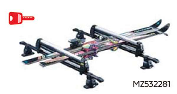 『ekクロス』 純正 B34W B35W B37W B38W スキー&スノーボードアタッチメント(平積みアルミショート ) ※ベースキャリア装着車用 パーツ 三菱純正部品 キャリアベース ルーフキャリアキャリア別売りキャリア別売り オプション アクセサリー 用品