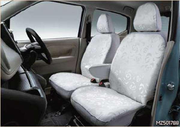 『ekクロス』 純正 B34W B35W B37W B38W シートカバー(ファブリック) ※除くメーカーオプションのプレミアムインテリアパッケージ装着車用 パーツ 三菱純正部品 座席カバー 汚れ シート保護 オプション アクセサリー 用品