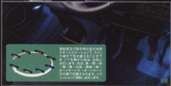 『ワゴンR』 純正 MH34S フットイルミネーション パーツ スズキ純正部品 照明 明かり ライト wagonr オプション アクセサリー 用品