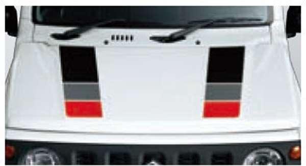 『ジムニーシエラ』 純正 JB74W フードデカール パーツ スズキ純正部品 ステッカー シール ワンポイント オプション アクセサリー 用品