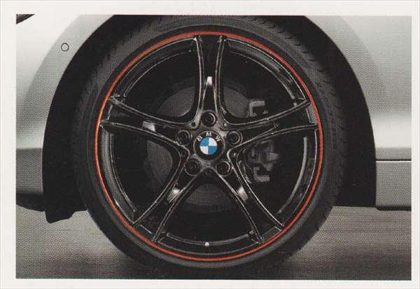 1 パーツ ダブルスポーク・スタイリング361 バイカラー ブラック/レッドリングのホイール単体 7.5J×19(フロント) BMW純正部品 1A16 1B30 オプション アクセサリー 用品 純正 送料無料