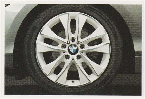 1 パーツ Vスポーク・スタイリング412 アスペン・ホワイトのホイール単体 7.5J×17(フロント/リヤ) BMW純正部品 1A16 1B30 オプション アクセサリー 用品 純正 送料無料