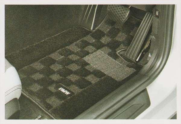 """1 パーツ フロア・マット・セット""""シャギー""""のブラック BMW純正部品 1A16 1B30 オプション アクセサリー 用品 純正 マット"""