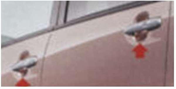 『ムーヴ』 純正 LA100S アウターハンドルガーニッシュ(ピンクゴールド) パーツ ダイハツ純正部品 ドアノブ カスタム エアロパーツ move オプション アクセサリー 用品