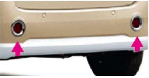 『ムーヴキャンパス』 純正 LA800S LA810S メッキ リヤリフレクターガーニッシュ パーツ ダイハツ純正部品 movecanbus オプション アクセサリー 用品