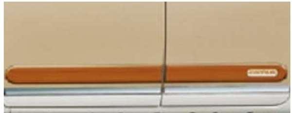 『ムーヴキャンパス』 純正 LA800S LA810S ウッド調 サイドストライプ パーツ ダイハツ純正部品 メッキ ウッド movecanbus オプション アクセサリー 用品