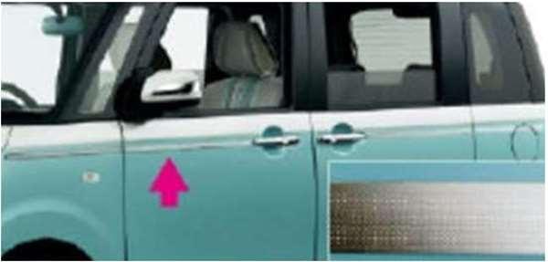 『ムーヴキャンパス』 純正 LA800S LA810S メッキ調 ピンストライプ パーツ ダイハツ純正部品 メッキ movecanbus オプション アクセサリー 用品
