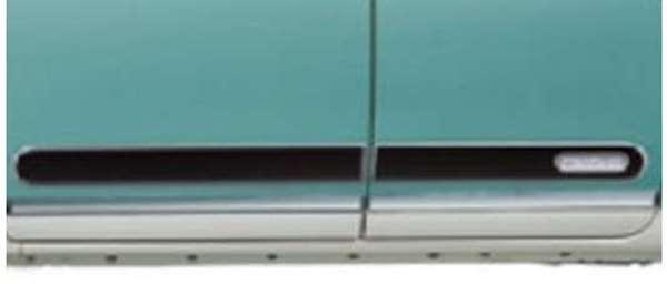 『ムーヴキャンパス』 純正 LA800S LA810S ブラック サイドストライプ パーツ ダイハツ純正部品 メッキ movecanbus オプション アクセサリー 用品
