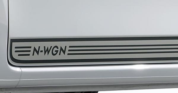 『N-WGN』 純正 JH3 JH4 デカール(サイド)ライトグレー×ダークグレー パーツ ホンダ純正部品 ステッカー シール ワンポイント オプション アクセサリー 用品