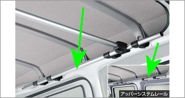 『ピクシス バン』 純正 S321M S331M アッパーシステムレールのみ パーツ トヨタ純正部品 オプション アクセサリー 用品