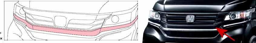 『N-WGN』 純正 JH1 JH2 フロントバンパーグリル パーツ ホンダ純正部品 オプション アクセサリー 用品