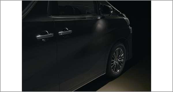 『ヴェルファイア』 純正 AYH30W GGH30W AGH30W GGH35W AGH35W GGH35W ウェルカムライト(運転席・助手席) パーツ トヨタ純正部品 イルミネーション 明かり 照明 オプション アクセサリー 用品