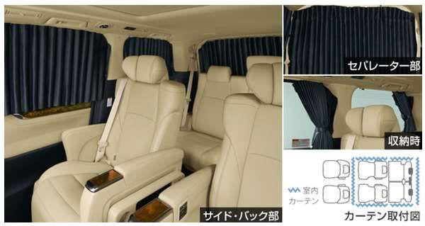 【ヴェルファイア】純正 AYH30W GGH30W AGH30W GGH35W AGH35W GGH35W 室内カーテン(遮光機能付/ドレープタイプ) パーツ トヨタ純正部品 目隠し 日除け スモーク オプション アクセサリー 用品