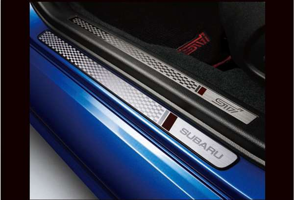 『WRX STI』 純正 VAB サイドシルプレート(STI) パーツ スバル純正部品 ステップ 保護 プレート オプション アクセサリー 用品