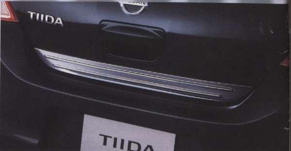 『ティーダ』 純正 C11 NC11 バックドアガーニッシュ CNME0 パーツ 日産純正部品 ワンポイント パネル カスタム TIIDA オプション アクセサリー 用品