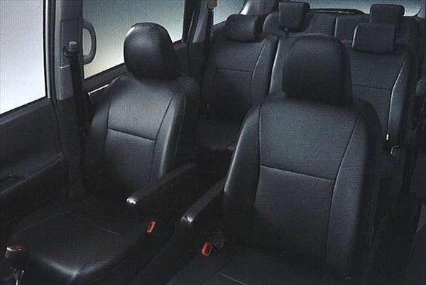 供纯正的ZRR70 ZRR75皮革风格座套合身类型TRANS-X使用的零件丰田纯正零部件座位覆盖物污垢席保护voxy选项配饰用品