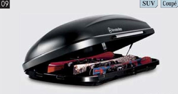 『GLCクラス』 純正 DBA LDA DLA CBA ルーフボックス用スキーラック 330l パーツ ベンツ純正部品 キャリア別売り オプション アクセサリー 用品