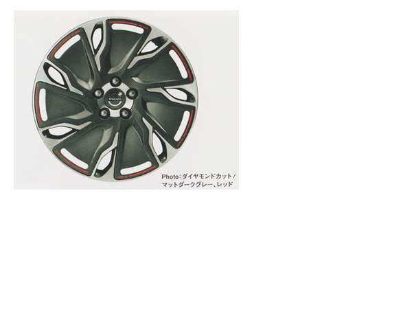 V40 Parts Alloy Wheels Aeros Diamond Cut And Matt Dark Grey Red Mb4164t Mb5204t Optional Accessories Supplies Genuine
