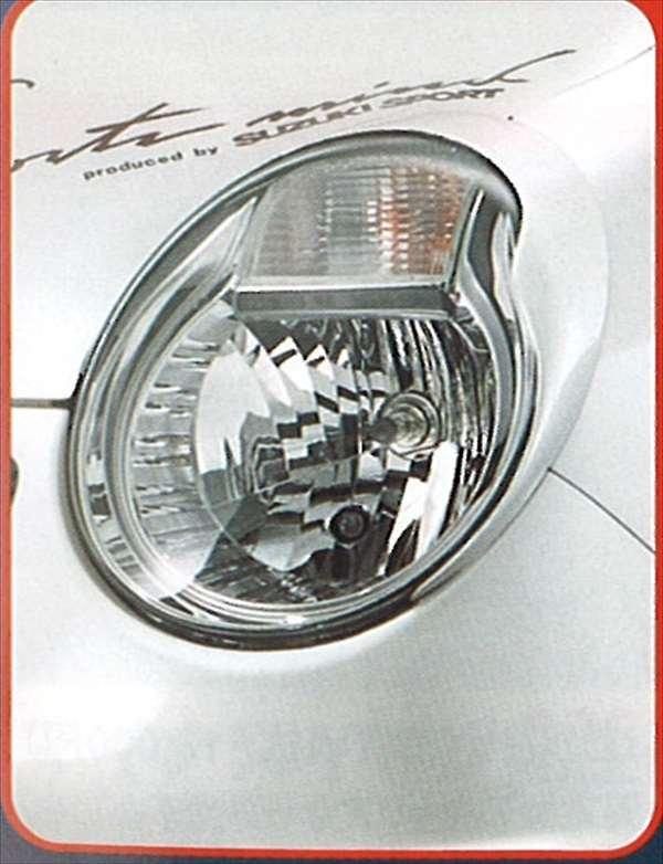 『MRワゴン』 純正 MF22 ヘッドランプガーニッシュ パーツ スズキ純正部品 ヘッドライトパネル 飾り カスタム mrwagon オプション アクセサリー 用品