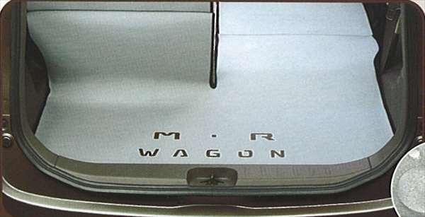 『MRワゴン』 純正 MF22 ラゲッジマット(ウェットスーツ生地) パーツ スズキ純正部品 ラゲージマット 荷室マット 滑り止め mrwagon オプション アクセサリー 用品