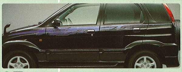 『テリオス』 純正 J131 ストライプ(サーキット) パーツ ダイハツ純正部品 メッキ デカール ステッカー シール terios オプション アクセサリー 用品