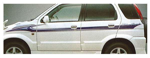 『テリオス』 純正 J131 ストライプ(アーバンラビッド) パーツ ダイハツ純正部品 メッキ デカール ステッカー シール terios オプション アクセサリー 用品