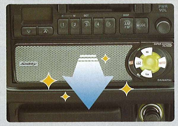 『テリオス』 純正 J131 1DIN空気清浄器(Smikky) パーツ ダイハツ純正部品 クリーン terios オプション アクセサリー 用品